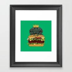 King of Burgers Green Framed Art Print
