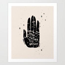 Your Future is Bright Hand Drawn Illustration - Black on Ivory | Alex Gold Studios Art Print
