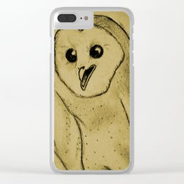 idk want a giant owl on your phone? Clear iPhone Case