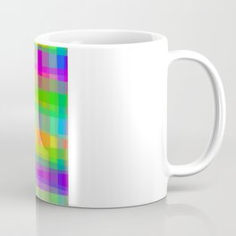 Psychedelic Fabric Texture Pattern Coffee Mug