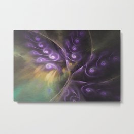 Lilacs In Bloom Abstract Metal Print