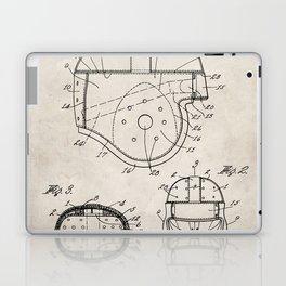 Football Helmet Patent - Football Art - Antique Laptop & iPad Skin