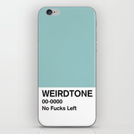 No Fucks Left iPhone Skin