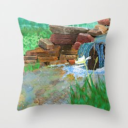 Spider Lilly Throw Pillow