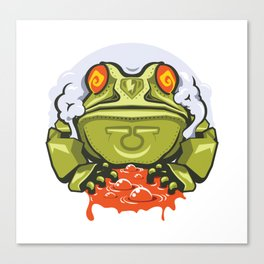 TOAD MECH STICKER - VAPORZOO Canvas Print