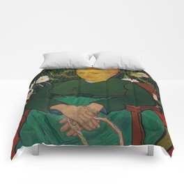 Vincent van Gogh - La Berceuse (Woman Rocking a Cradle; Augustine-Alix Pellicot Roulin, 1851–1930) Comforters