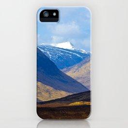 Looking towards Glen Etive, Scotland iPhone Case