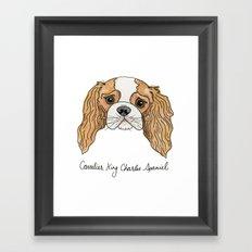 King Charleston Spaniel  Framed Art Print