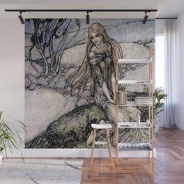 """Arthur Rackham Fairy Art from """"Undine"""" Wall Mural"""