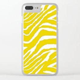 Zebra Golden Yellow Clear iPhone Case