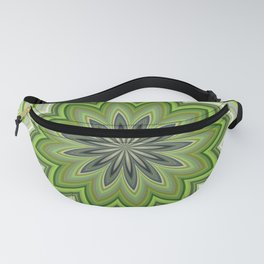 Abstract Green Flower Mandala Spiritual Fanny Pack