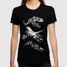 Jurassic Bloom. MEDIUM Womens Fitted Tee Black