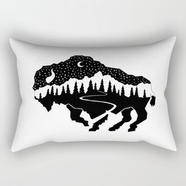 Grand Teton Bison Rectangular Pillow