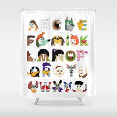 Child of the 70s Alphabet Shower Curtain
