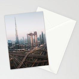 Dubai Skyline Sunset   Travel Photography    Stationery Cards