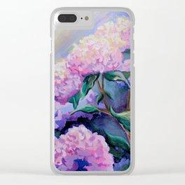 Cape Hydrangeas Clear iPhone Case