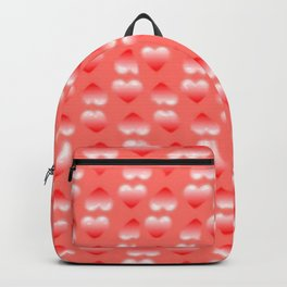 Hearts pattern and stereogram - See the hidden 3D image! Backpack