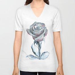 Rose Drawing Unisex V-Neck
