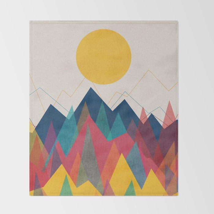 Uphill Battle Throw Blanket