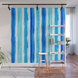 Laird Blue Stripes Wall Mural