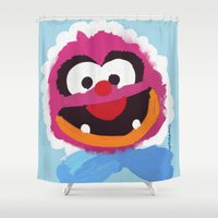 muppets Shower Curtains featuring Animal Muppets Babies by Roe Mesquita