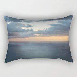 Dramatic sky and beautiful sunset over Atlantic ocean in Madeira island, Portugal. Rectangular Pillow