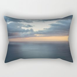 Dramatic sky and beautiful sunset over Atlantic ocean in Madeira island, Portugal. Rectangular Pillow