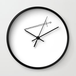 Sword Knight - One Line Drawing Wall Clock