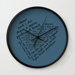 Quotes of the Heart - Destiel (Black) Wall Clock