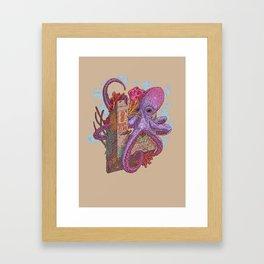 O is for Octopus Framed Art Print