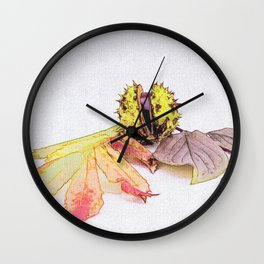 autumn feelings  Wall Clock