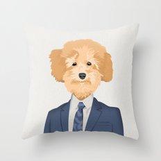 Posing Poodle Throw Pillow