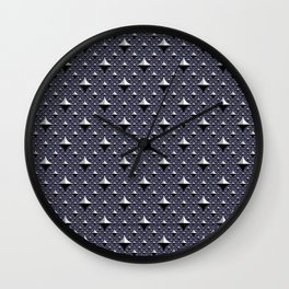 Iguana - navy Wall Clock