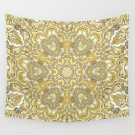 Orange and Yellow Kaleidoscope 1 Wall Tapestry