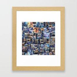 Geometric Graphic Collage Framed Art Print