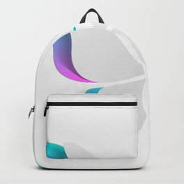 Pretty Aqua And Violet Butterfly Backpack
