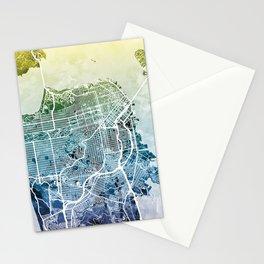 San Francisco City Street Map Stationery Cards