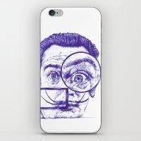 salvador dali iPhone & iPod Skins featuring Salvador Dali by Black Magic Woman