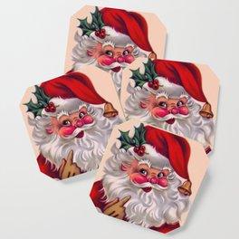 Cute vintage santa claus 2 Coaster