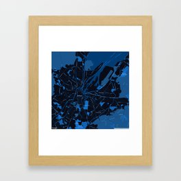 Minimalist Modern Map of Belfast, North Ireland 2 Framed Art Print