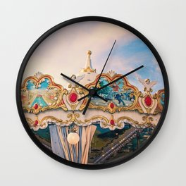 Paris Carousel - Merry Go Round Wall Clock