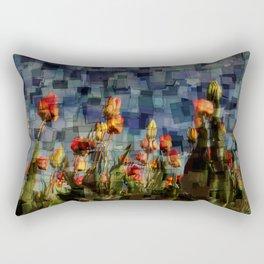 Champ de Tulipes Mosaïque Rectangular Pillow