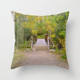 Colorado Mountain Bridge Throw Pillow