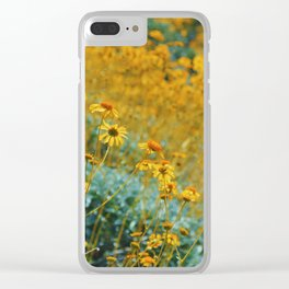 Fields of Yellow Clear iPhone Case