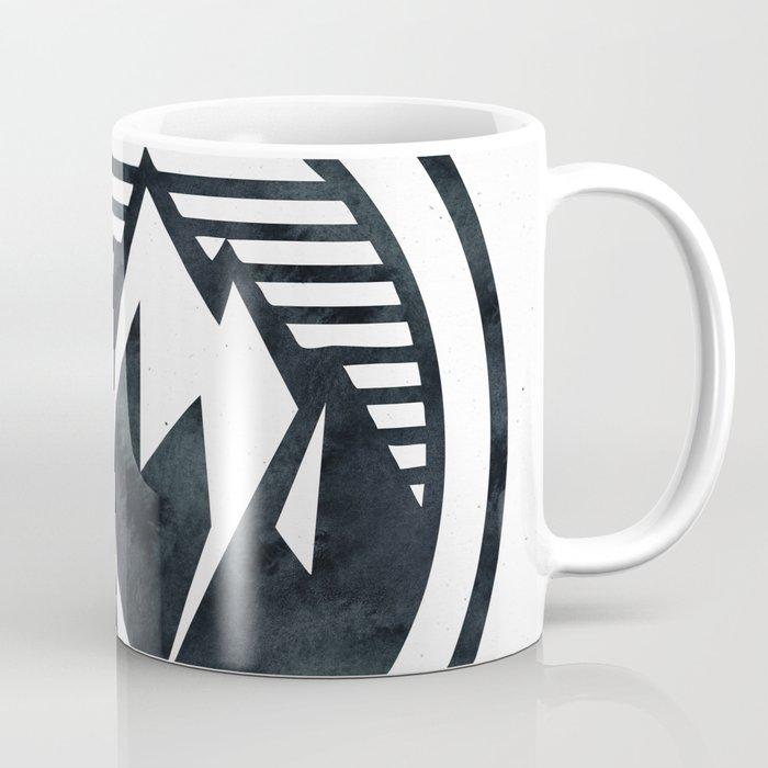 THE MOUNTAIN Black and White Coffee Mug
