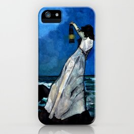 She lived almost alone in a sea of storms. iPhone Case