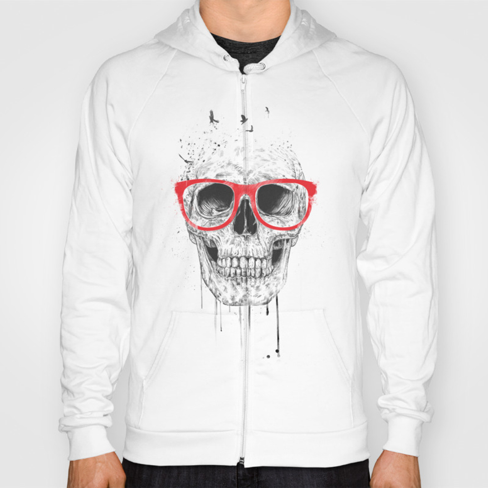 Skull With Red Glasses Hoody by Soltib SSR3216285