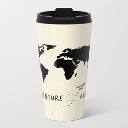 Adventure Map - Vintage Black Metal Travel Mug