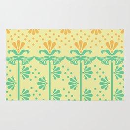 Vintage Art Deco floral pattern Rug