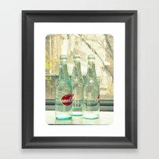 rainy day ~ vintage soda bottles Framed Art Print